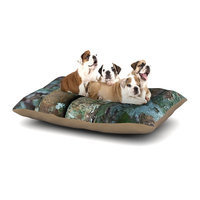 East Urban Home Susan Sanders 'Into the Woods' Rustic Dog Pillow with Fleece Cozy Top Size: Small (40