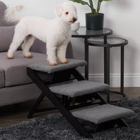 Paws And Purrs Plush 3 Step Pet Stair