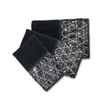 Sweet Home Collection Sinatra Bath 3 Piece Towel Set Color: Black