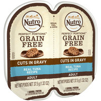 Nutro™ Perfect Portions™ Grain Free Real Tuna Recipe Cuts in Gravy Adult Cat Food 2-1.32 oz. Pack