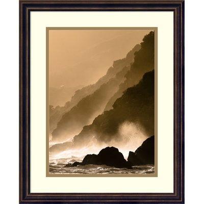 Red Barrel Studio 'Dramatic Seascape' Framed Photographic Print on Wood