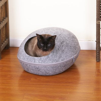 Petpals Pet Bed with Removable Cover Color: Gray