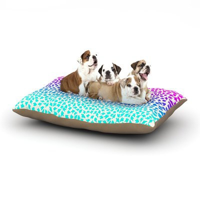 East Urban Home Sreetama Ray 'Ombre Arrows' Dog Pillow with Fleece Cozy Top Size: Small (40