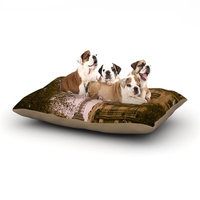 East Urban Home Ann Barnes 'Lady Beckons' Dog Pillow with Fleece Cozy Top Size: Large (50
