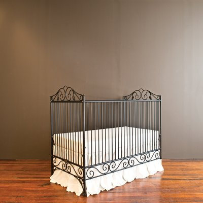 Bratt Decor Casablanca Crib with Mattress Finish: Black