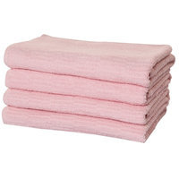 Puffy Towels Turkish Cotton Bath Towel Color: Pink