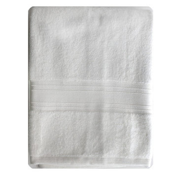 Homewear Linens Riviera Bath Towel Color: White