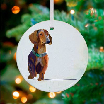 Greenbox Art Personalized Best Friend Dachshund Hanging Ornament