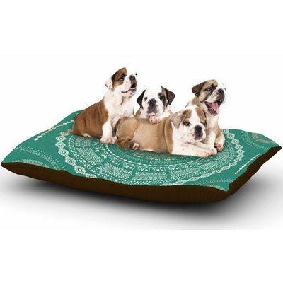 East Urban Home Famenxt 'Mint Medallion' Dog Pillow with Fleece Cozy Top