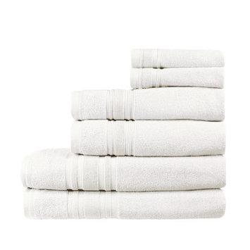 Melange Home Turkish Cotton Ensemble 6 Piece Towel Set Color: White