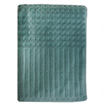 Homewear Linens City Stripe Honeycomb Bath Towel Color: Seafoam