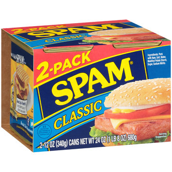 SPAM® Classic Canned Meat 2-12 oz. Cans