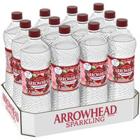 ARROWHEAD Sparkling Mountain Spring Water Black Cherry 1L Bottle (Pack of 12)