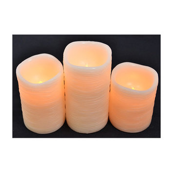 Alcott Hill 3 Piece Pillar Candle Set