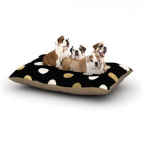 East Urban Home KESS Original 'Golden Dots' Dog Pillow with Fleece Cozy Top Size: Small (40
