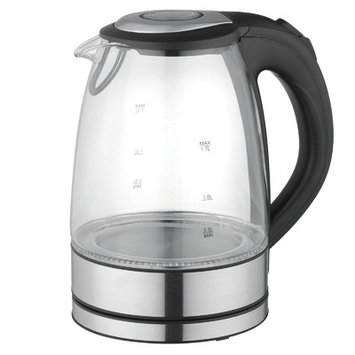 Mega Chef 1.8-qt. Glass and Stainless Steel Electric Tea Kettle