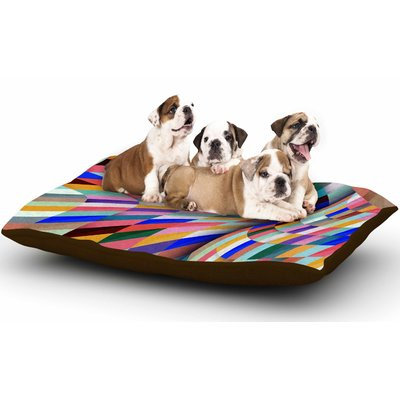 East Urban Home Danny Ivan 'Different' Geometric Dog Pillow with Fleece Cozy Top
