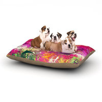 East Urban Home Danny Ivan 'Splash' Abstract Dog Pillow with Fleece Cozy Top Size: Small (40