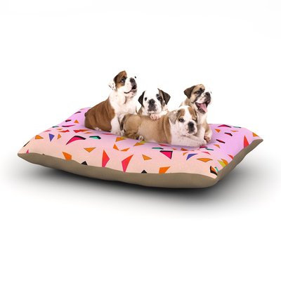East Urban Home Vasare Nar 'Candy Land Tropical' Geometric Dog Pillow with Fleece Cozy Top Size: Large (50