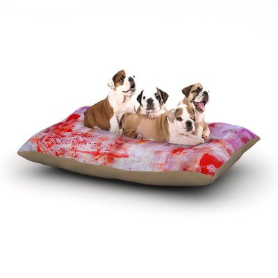 East Urban Home Malia Shields 'Painted Cityscape' Dog Pillow with Fleece Cozy Top Size: Small (40