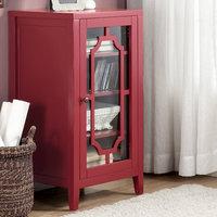 Acme Furniture Fina 8 Bottle Floor Wine Cabinet Finish: Burgundy