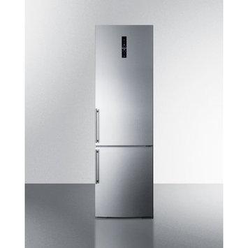 Summit Appliance European Counter Depth Bottom Freezer Refrigerator - Stainless Steel