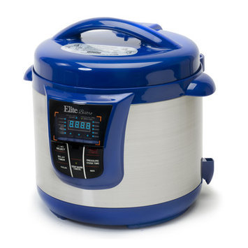 Elite By Maxi-matic Bistro 8-Quart Electric Stainless Steel Pressure Cooker