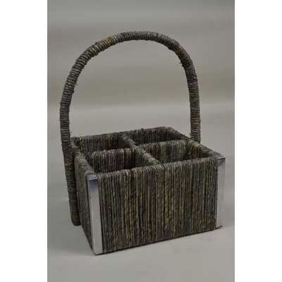 Gt Direct Corp Corn Husk Basket Color: Gray