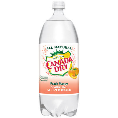 Canada Dry Peach Mango Sparkling Seltzer Water