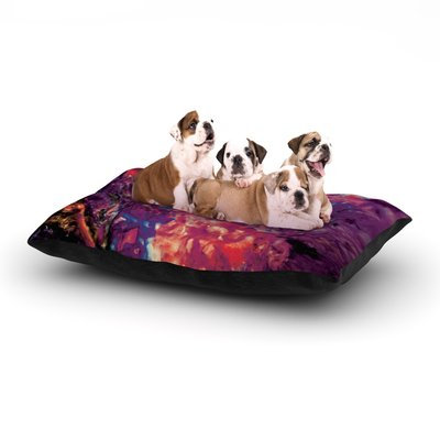 East Urban Home Mary Bateman 'Passion Flowers' Dog Pillow with Fleece Cozy Top Size: Large (50