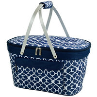 Freeport Park Collapsible Insulated Basket Color: Blue