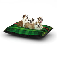 East Urban Home Matthias Hennig 'Tartan' Dog Pillow with Fleece Cozy Top Size: Small (40