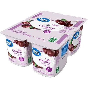 Great Value™ Cherry Light Nonfat Yogurt