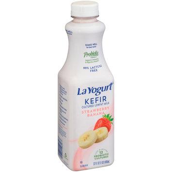 La Yogurt® Kefir Strawberry Banana Lowfat Milk 32 fl. oz. Bottle