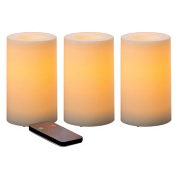 Red Barrel Studio 3 Piece Traditional Flameless Candle Set