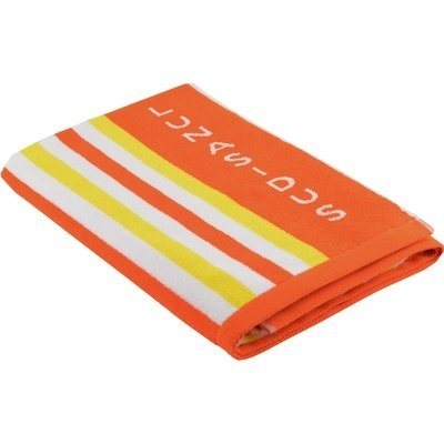 Lunasidus Luxury Stripe Beach Towel Color: Orange - Yellow