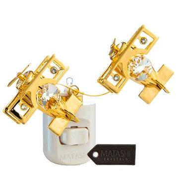 Matashicrystal 24K Gold Plated Crystal Studded Bi Planes LED Night Light