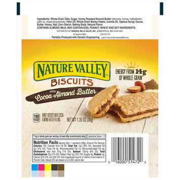 Nature Valley™ Biscuits with Cocoa Almond Butter 1.35 oz. Wrapper