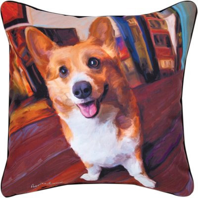Manual Corgi Get Low Decorative Pillow