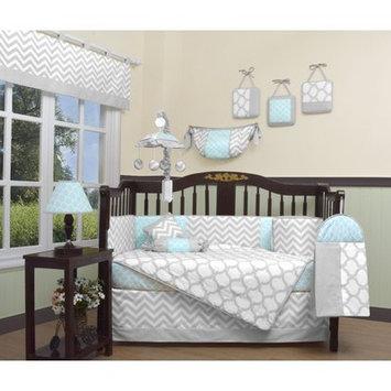 Geenny Chevron 13 Piece Crib Bedding Set Color: Glacier Blue