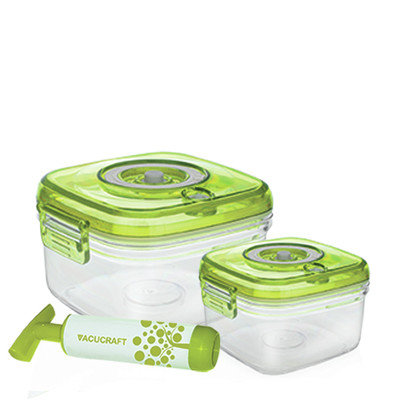 Vacucraft 3 Piece Food Storage Container Set