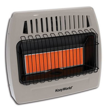 World Marketing Kozy World 30,000 BTU Infrared Natural Gas Wall Heater