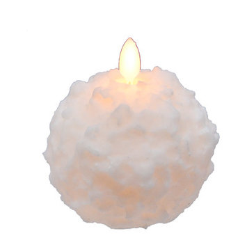 Varick Gallery Snowball Novelty Candle (Set of 2) Size: 3.75