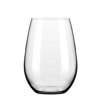 Libbey Signature Kentfield Stemless White Wine Glass, Set of 4