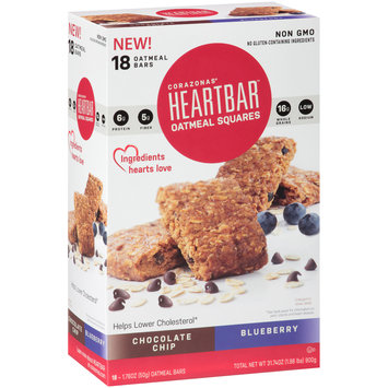 Corazonas® Heartbar™  Chocolate Chip/Blueberry Oatmeal Square Bars 18-1.76 oz. Bars