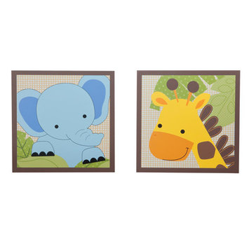 Lambs & Ivy Bedtime Originals Jungle Buddies Wall Decor