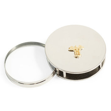 Bey-berk Medical, Chrome Plated Magnifying Glass / Paperweight