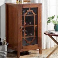 Acme Furniture Fina 8 Bottle Floor Wine Cabinet Finish: Walnut