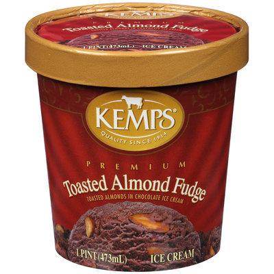 Kemps® Toasted Almond Fudge Premium Ice Cream 1 pt. Tub