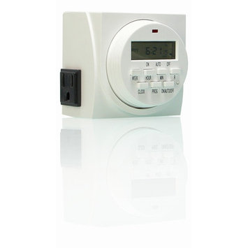 Hydrofarm 7 Day Dual Grounded Digital Programmable Timer